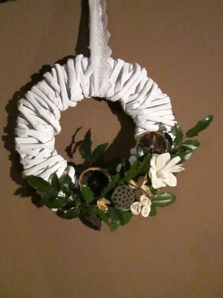 wieniec adwentowy Bożonarodzeniowy  DIY