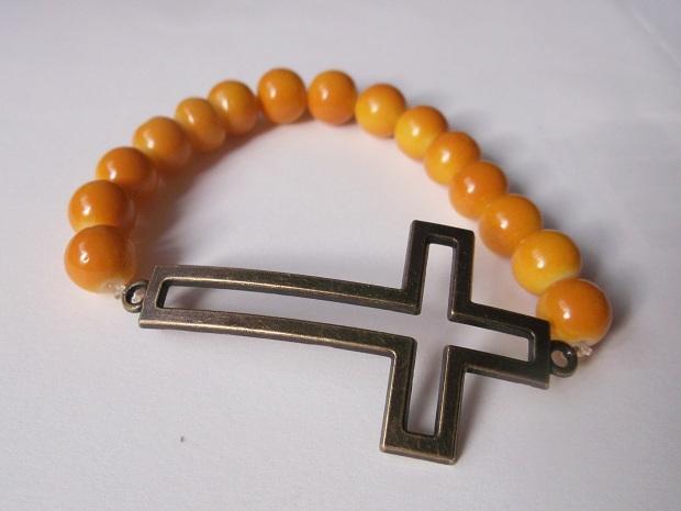 bransoletka na gumce krzyż